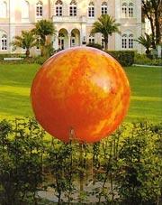 Die Sonne vor dem Prinzenpalais im Arminiuspark.